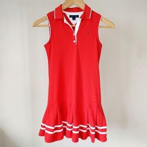 Tommy Hilfiger Girls Sleeveless Tennis Dress Red 8